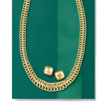 Italian 18kt Yellow Gold Square Earrings, , default