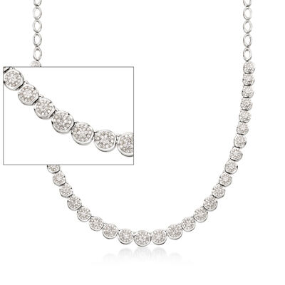 2.00 ct. t.w. Diamond Necklace in Sterling Silver, , default