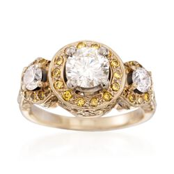 C. 2000 Vintage 2.51 ct. t.w. Yellow and White Diamond Ring in 18kt Yellow Gold. Size 6.5, , default