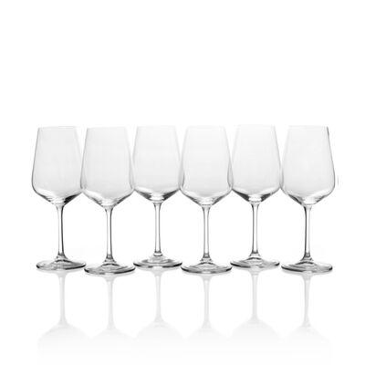 """Mikasa """"Gianna"""" Set of 6 White Wine Glasses"""