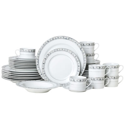 "Mikasa ""Chadwick Grey"" 40-pc. Service for 8 Dinnerware Set"