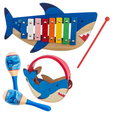 Child's 5-pc. Shark Percussion Set by Stephen Joseph