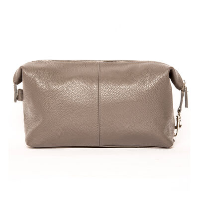 """Brouk & Co. """"Standford"""" Gray Genuine Leather Toiletry Bag, , default"""