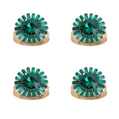 Joanna Buchanan Set of 4 Emerald Giant Gemstone Napkin Rings