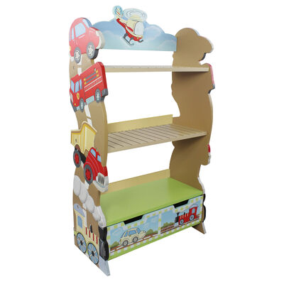 Child's Transportation Wooden Bookshelf, , default