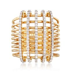 .59 ct. t.w. Diamond Crisscross Ring in 14kt Yellow Gold, , default