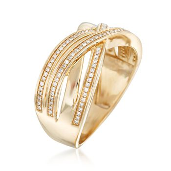 .15 ct. t.w. Diamond Highway Ring in 14kt Yellow Gold, , default