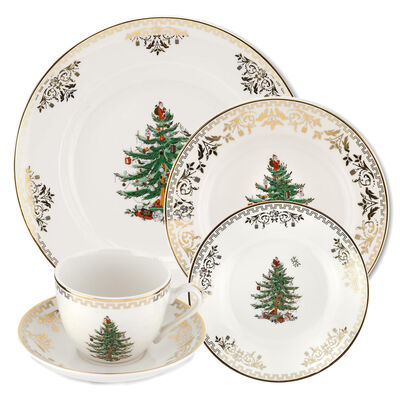 "Spode ""Christmas Tree Gold"" Dinnerware Collection"