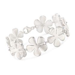 """Zina Sterling Silver """"Tiki"""" Flower Bracelet. 7"""", , default"""