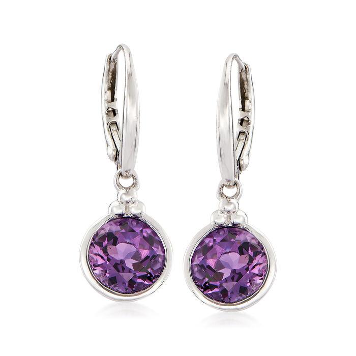 3.30 ct. t.w. Amethyst Drop Earrings in Sterling Silver