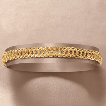 14kt Yellow Gold Double Oval-Link Bracelet