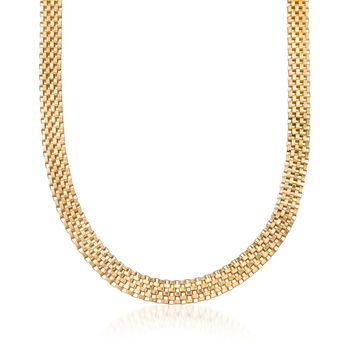 Italian 18kt Gold Over Sterling Silver Tulipano Necklace, , default