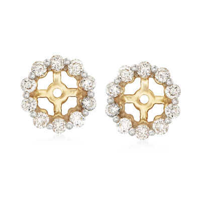 .40 ct. t.w. Diamond Earring Jackets in 14kt Yellow Gold, , default