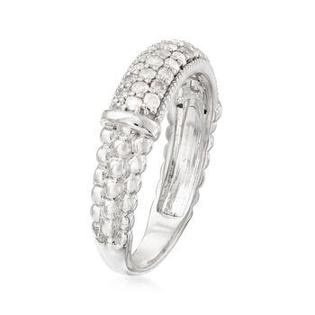 .50 ct. t.w. Pave Diamond Beaded Ring in Sterling Silver