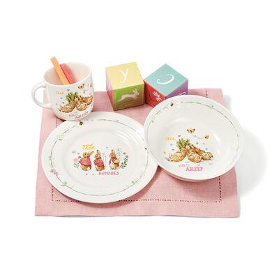 Wedgwood Peter Rabbit Girl's Three-Piece Dinnerware Set, , default