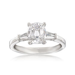 Henri Daussi 1.53 ct. t.w. Certified Diamond Engagement Ring in 18kt White Gold, , default