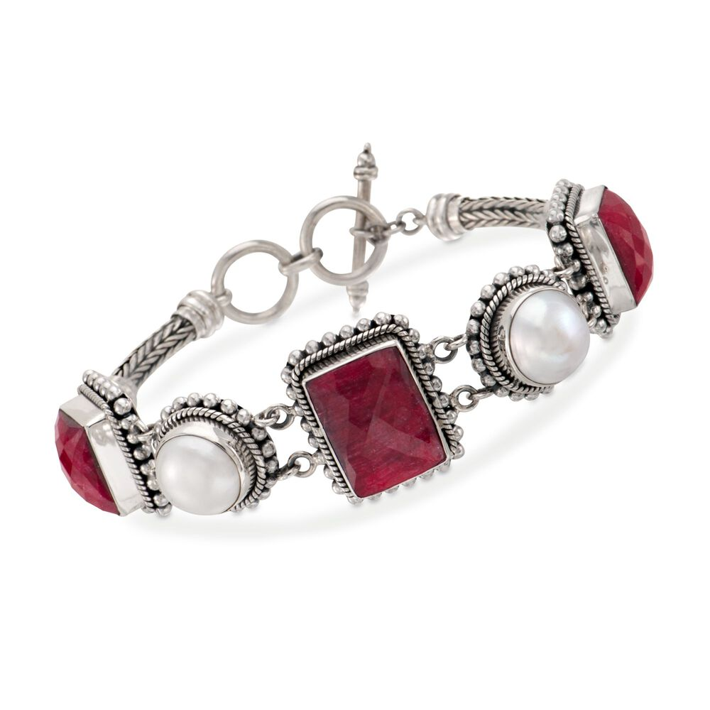 t.w. Ruby Bracelet in Sterling Silver. 7