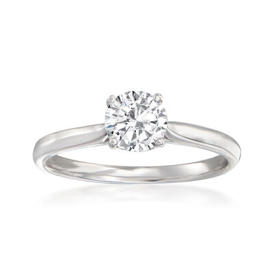 14kt White Gold Engagement Ring Setting with Diamond Accents