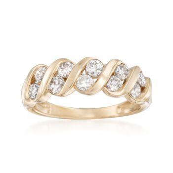 1.00 ct. t.w. Diamond Swirl Ring in 14kt Yellow Gold, , default