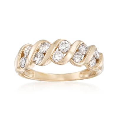 1.00 ct. t.w. Diamond Swirl Ring in 14kt Yellow Gold, , default