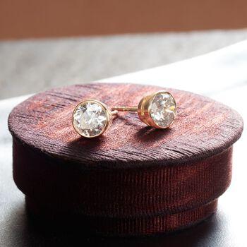 2.00 ct. t.w. Bezel-Set Diamond Stud Earrings in 14kt Yellow Gold, , default