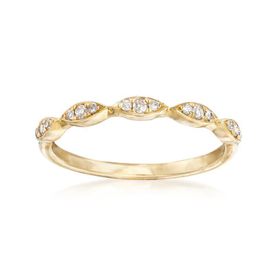 .10 ct. t.w. Diamond Stackable Ring in 14kt Yellow Gold Ring