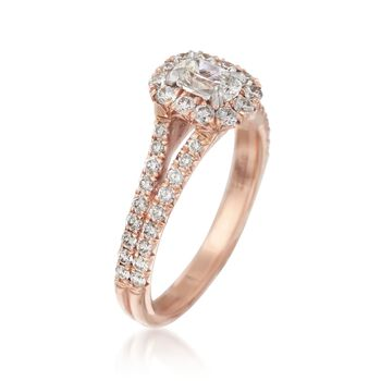Henri Daussi 1.23 ct. t.w. Diamond Engagement Ring in 14kt Rose Gold, , default
