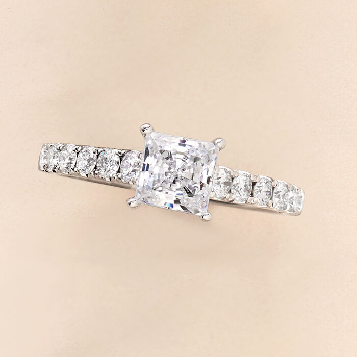 .54 ct. t.w. Diamond Engagement Ring Setting in 14kt White Gold