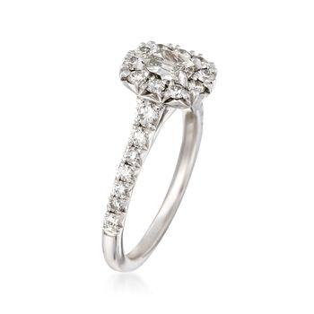 Henri Daussi 1.14 ct. t.w. Diamond Engagement Ring in 18kt White Gold, , default