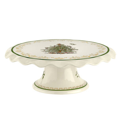 "Spode ""Christmas Tree"" 2019 Edition Gold Cake Stand"