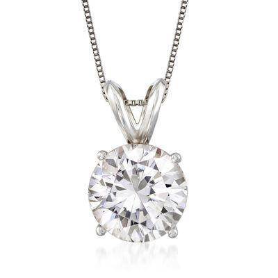 2.00 Carat Diamond Solitaire Pendant Necklace in Platinum, , default