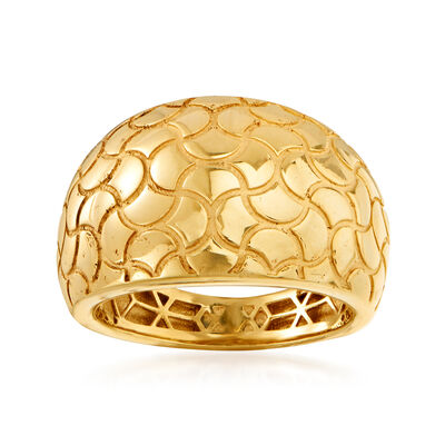 Italian 14kt Yellow Gold Dome Ring, , default