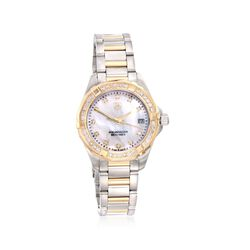 TAG Heuer Aquaracer Women's 32mm .62 ct. t.w. Diamond Watch in Stainless Steel and 18kt Yellow Gold , , default