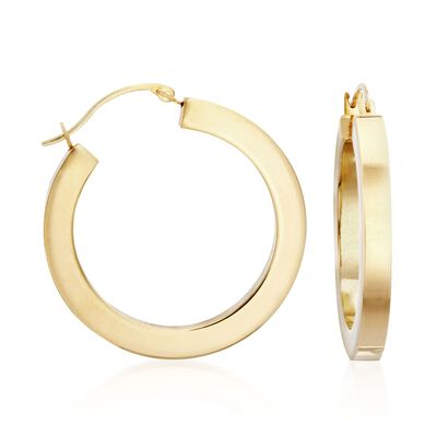 Andiamo 14kt Yellow Gold Hoop Earrings