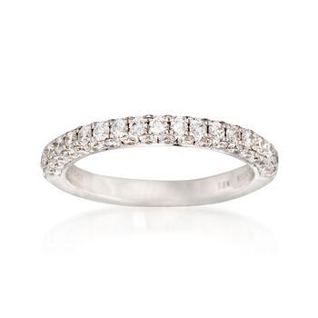 Henri Daussi .95 ct. t.w. Diamond Wedding Ring in 18kt White Gold, , default