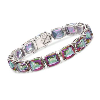 65.00 ct. t.w. Multicolored Quartz Bracelet in Sterling Silver, , default