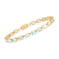 Ethiopian Opal Tennis Bracelet in 14kt Gold Over Sterling, , default