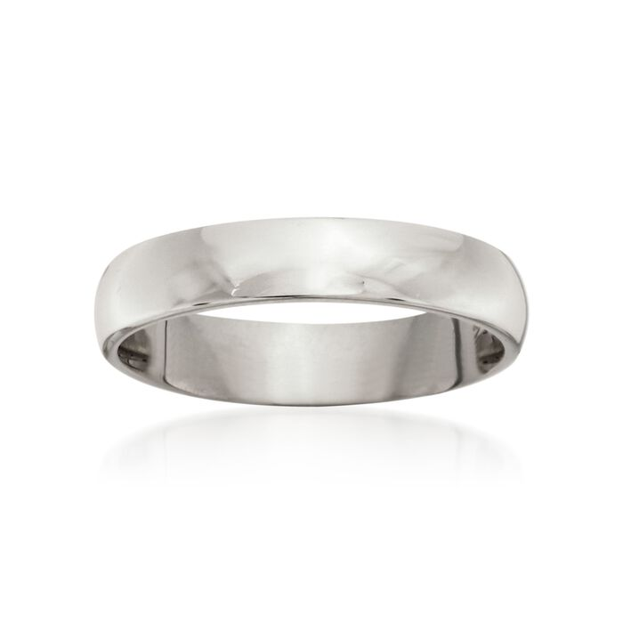 Men's 4mm 14kt White Gold Wedding Ring, , default