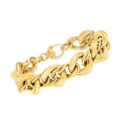 Italian 14kt Yellow Gold Large-Link Bracelet