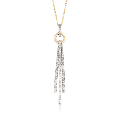 .40 ct. t.w. Diamond Triple Bar Pendant Necklace in 14kt Two-Tone Gold, , default