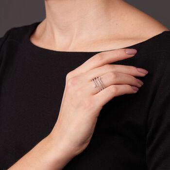 .30 ct. t.w. Diamond Open Serpentine Ring in 14kt White Gold, , default