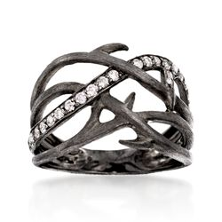 .30 ct. t.w. Diamond Branch Ring in Sterling Silver, , default