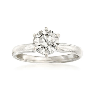 C. 2000 Vintage 1.04 Carat Diamond Solitaire Engagement Ring in 14kt White Gold