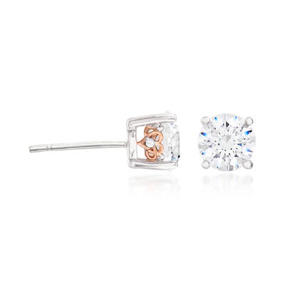 2.02 ct. t.w. Swarovski CZ Stud Earrings in Sterling Silver, , default