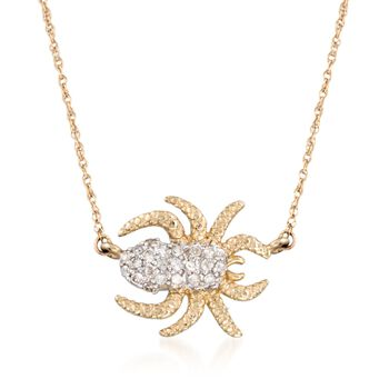 .15 ct. t.w. Diamond Spider Necklace in 14kt Yellow Gold, , default
