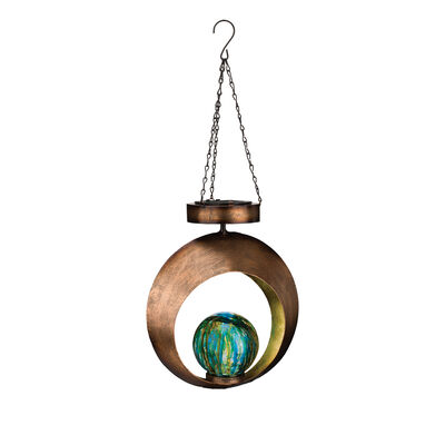 Regal Set of 2 Round Contempo Solar Lantern, , default