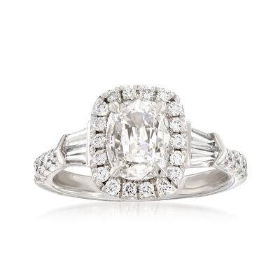 Henri Daussi 1.61 ct. t.w. Certified Diamond Engagement Ring in 18kt White Gold, , default