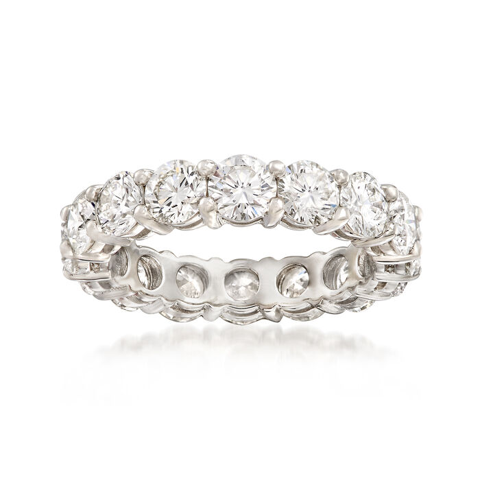 4.22 ct. t.w. Diamond Eternity Band in Platinum. Size 6