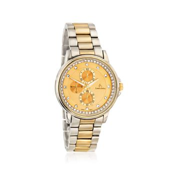 Louis Arden Women's 40mm Two-Tone Watch With Crystals - Yellow Dial, , default