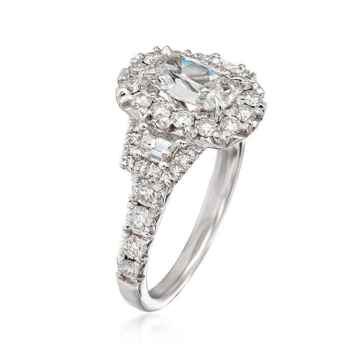Henri Daussi 2.29 ct. t.w. Certified Diamond Ring in 18kt White Gold